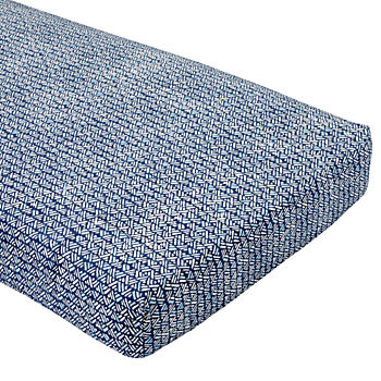 Hand Blocked Navy Crib Fitted Sheet