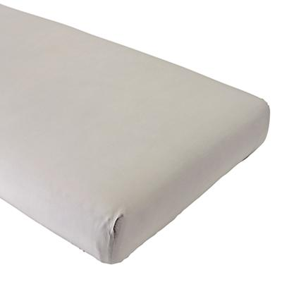 Organic Iconic Grey Crib Fitted Sheet