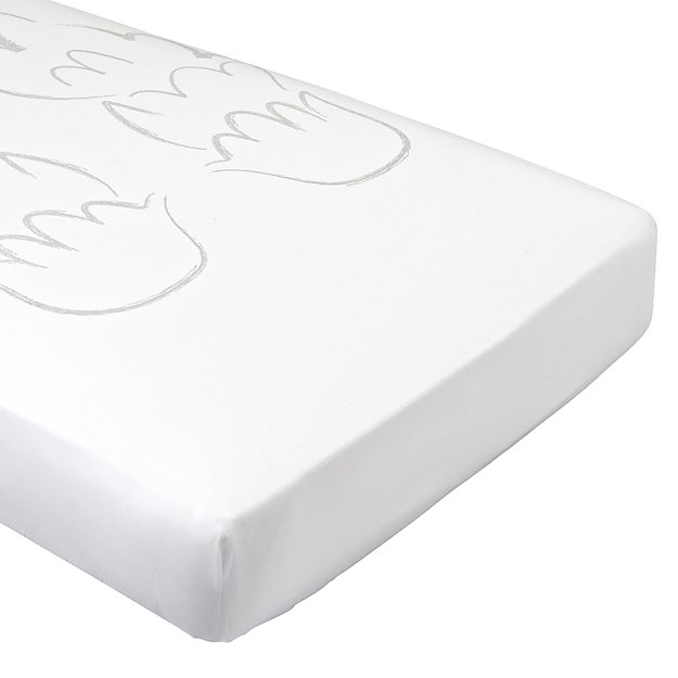Organic Little Angel Wings Crib Fitted Sheet