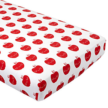 Organic Apple Orchard Crib Fitted Sheet
