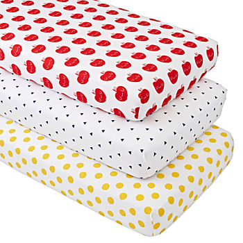 Organic Apple Orchard Crib Fitted Sheets (Set of 3)
