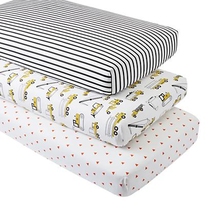 Organic Builder's Crib Fitted Sheets (Set of 3)