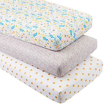 Floral Rush Crib Fitted Sheets (Set of 3)