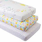 Organic Floral Suite Crib Fitted Sheets (Set of 3)