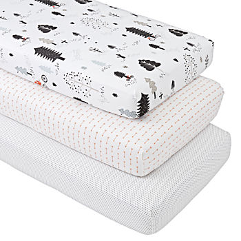 Forest Friends Crib Fitted Sheets (Set of 3)