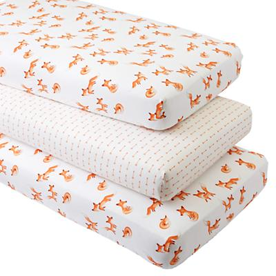 Fox Crib Fitted Sheets (Set of 3)