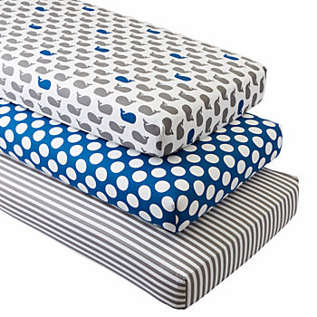 Organic Make a Splash Crib Fitted Sheets (Set of 3)