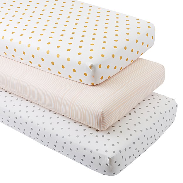 Marine Queen Crib Fitted Sheets (Set of 3)