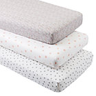 Organic Modern Chic Crib Fitted Sheets (Set of 3)