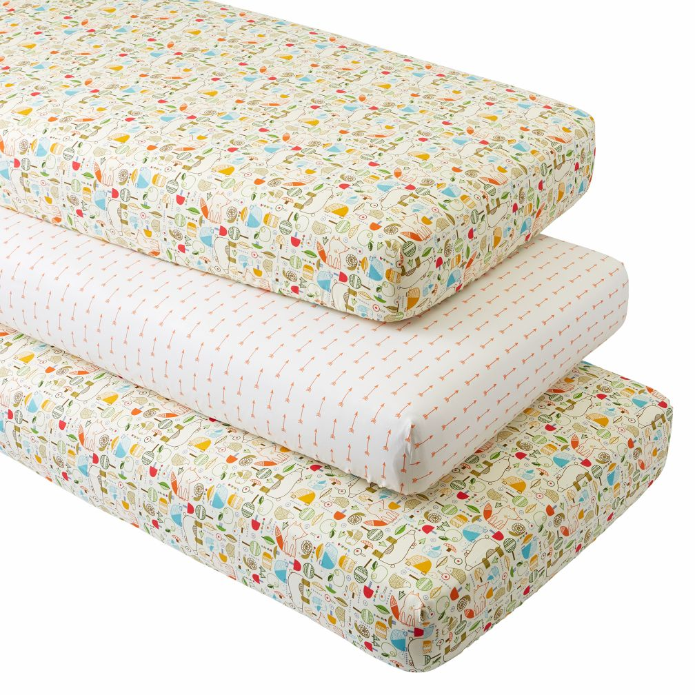 Nature Trail Crib Fitted Sheets (Set of 3)