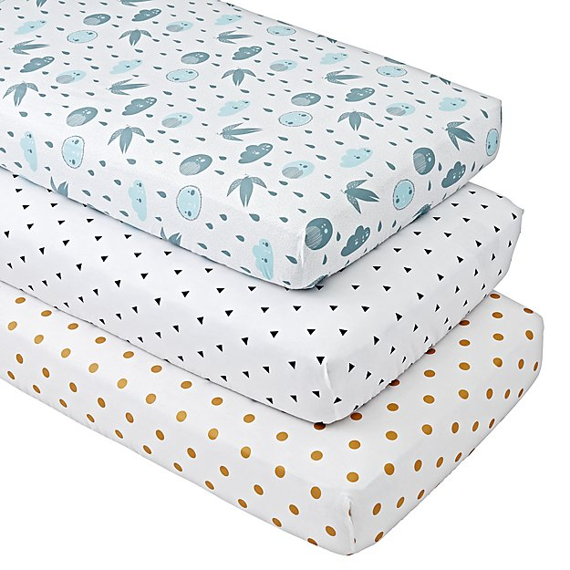 Organic Night and Day Crib Fitted Sheets (Set of 3)