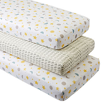 Organic Nightfall Crib Fitted Sheets (Set of 3)