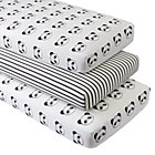 Organic Panda Crib Fitted Sheets (Set of 3)