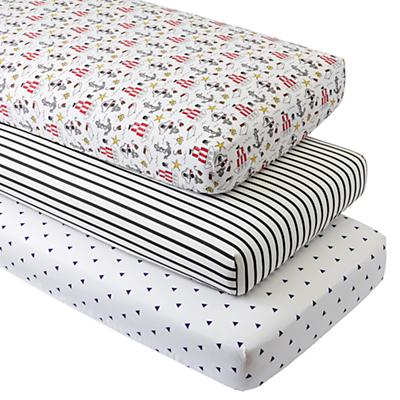 Organic Pirate Crib Fitted Sheets (Set of 3)