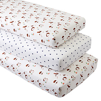 Organic Poky Little Puppy Crib Fitted Sheets (Set of 3)