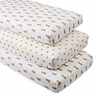 Royal Hippo Crib Fitted Sheets (Set of 3)