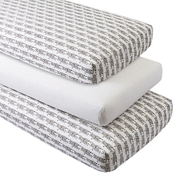 Organic Savanna Crib Fitted Sheets (Set of 3)