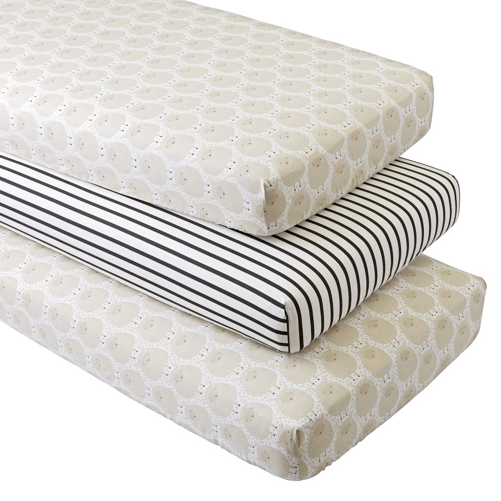 Organic Sheepish Crib Fitted Sheets (Set of 3)