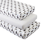 Organic Shy Kitten Crib Fitted Sheets (Set of 3)