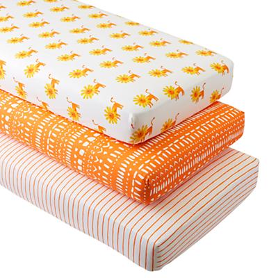 Organic Wild Excursion Lion Crib Fitted Sheets (Set of 3)