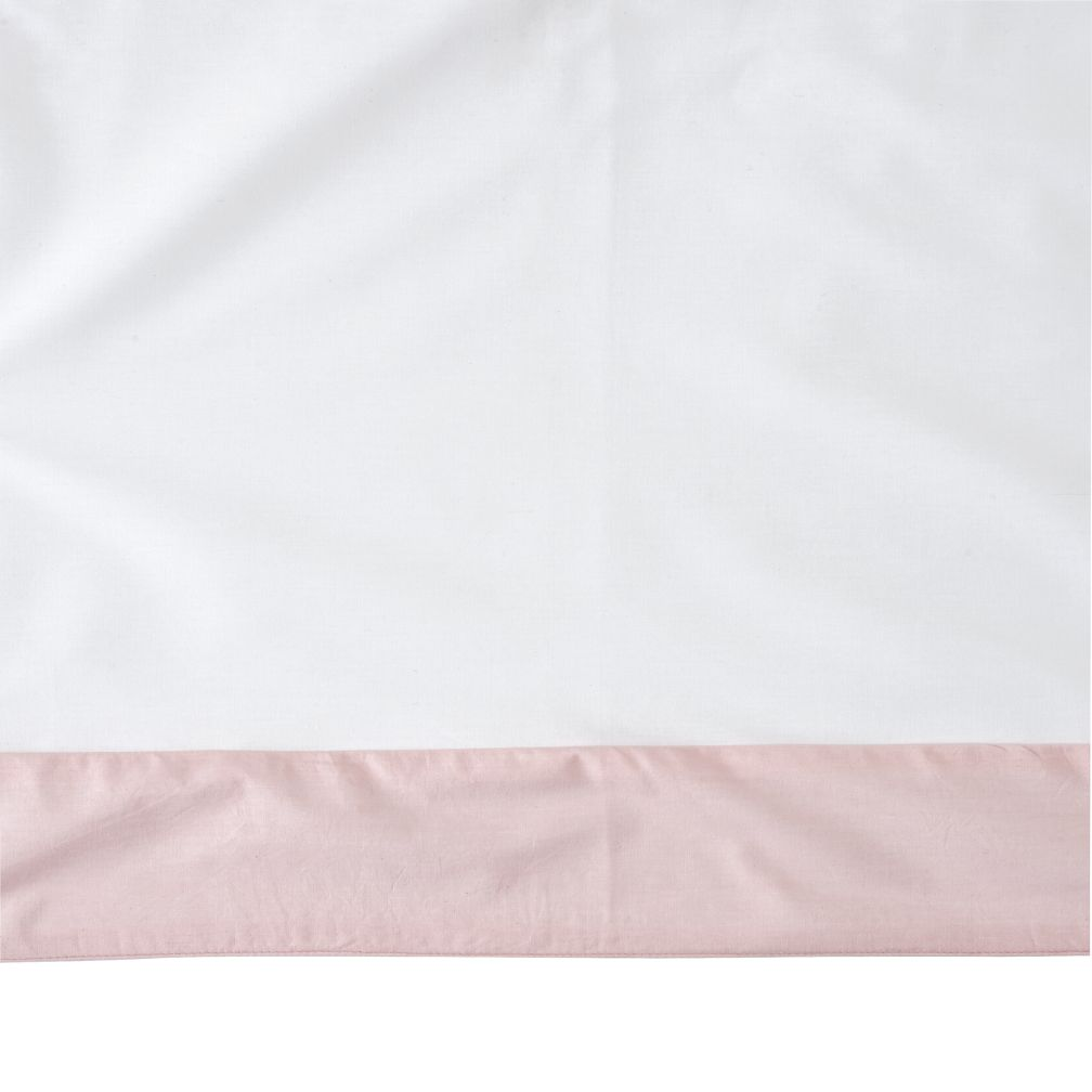 Organic Iconic Pink Crib Skirt