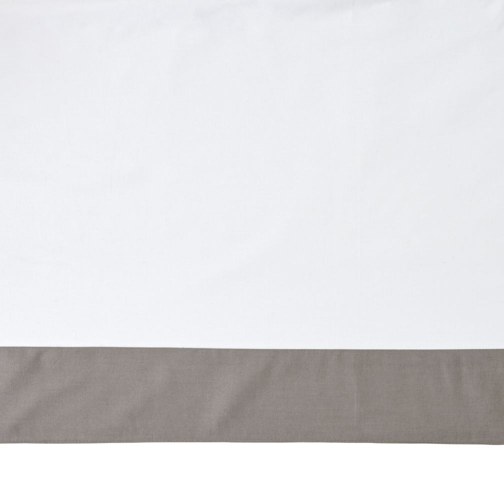 Organic Iconic Grey X Crib Skirt