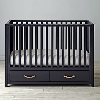 Topside Midnight Blue Crib