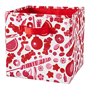 Dylan's Candy Bar Cube Storage Red Bin
