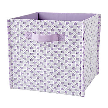 Patternly Purple Cube Bin