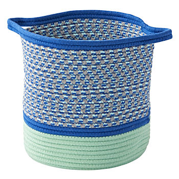 Blue Rope Storage Basket