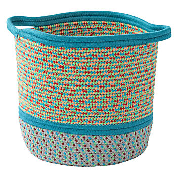 Teal Rope Storage Basket