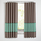 "New School Green Stripe 63"" Curtain(Sold Individually)"