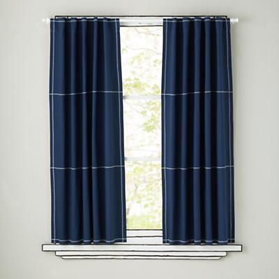 Canvas Curtains (Blue)