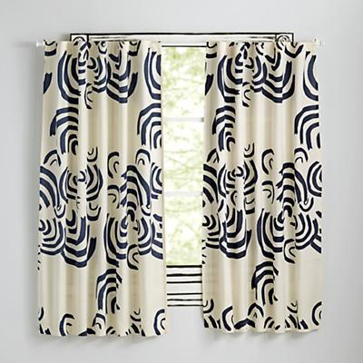 "Cloudscape Navy 84"" Curtain"