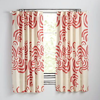 "Cloudscape Pink 63"" Curtain"