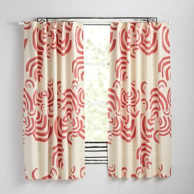 "Cloudscape Pink 84"" Curtain"
