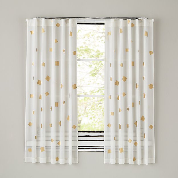 "Gold Confetti 63"" Curtain"