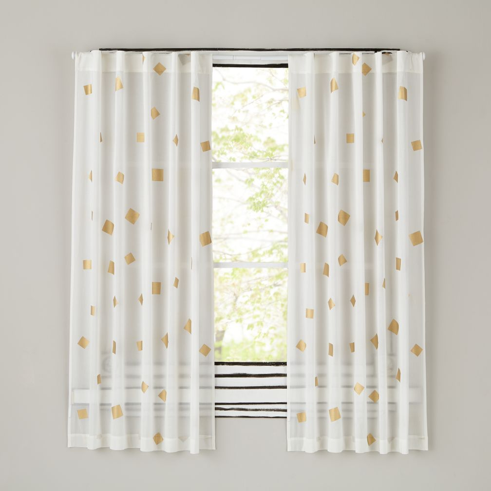 "Gold Confetti 84"" Curtain"