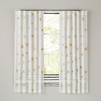 Gold Confetti Curtains