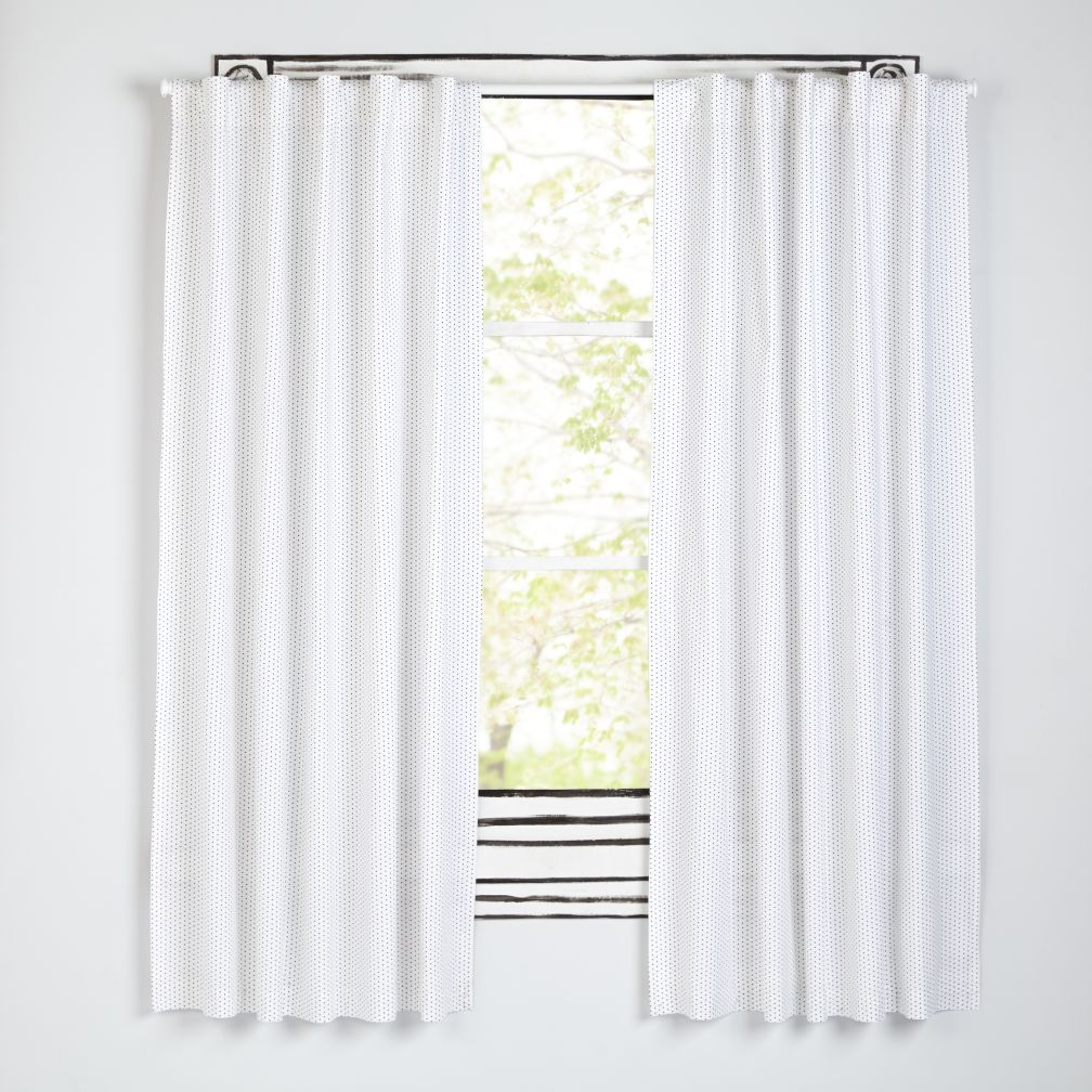 "Early Edition Black Dot 84"" Curtain"