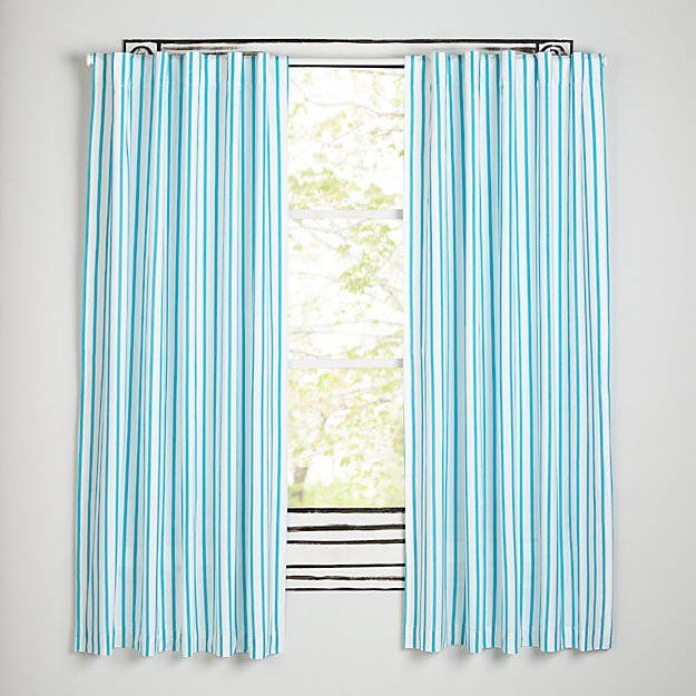"""Early Edition Blue Stripe 84"""" Curtain"""