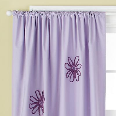 "63"" Lavender Flower Curtain Panel"