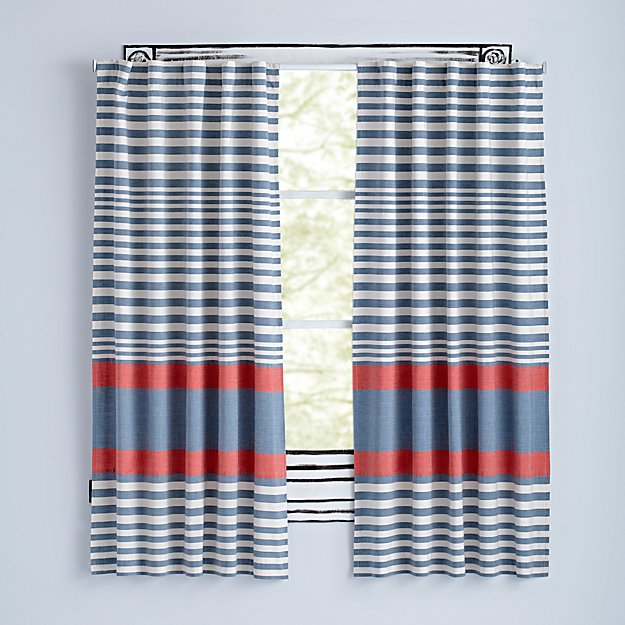 "Fine Lines Red 63"" Curtain"