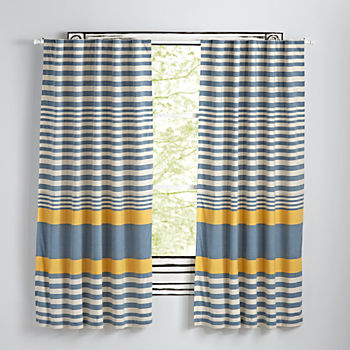 "Fine Lines Yellow 63"" Curtain"