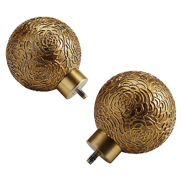 Set of 2 Rose Ball Finials