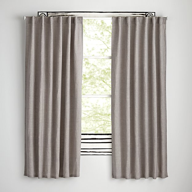 "Fresh Linen Grey 63"" Curtain"