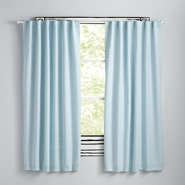 "Fresh Linen Light Blue 63"" Curtain"