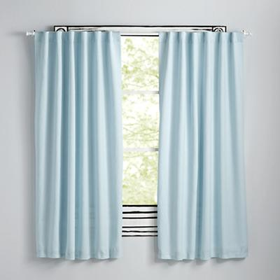 "Fresh Linen Light Blue 96"" Curtain"