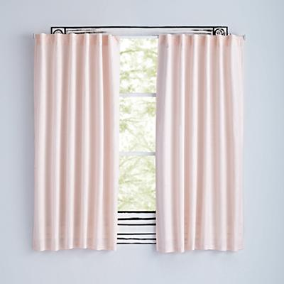 Fresh Linen Light Pink Curtains