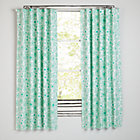 "Go Lightly Mint Floral 84"" Blackout Curtain(Sold Individually)"